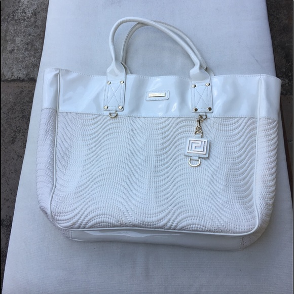 191b918b6183 Versace Parfume Cocoon White Summer large tote bag NWT